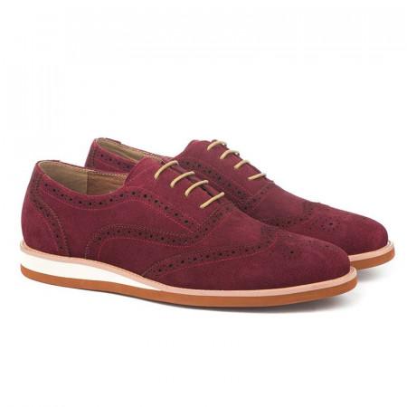 Slika Kožne muške cipele K01A13-11 bordo