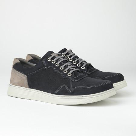 Slika Kožne muške patike/cipele 20410-1 tamno teget