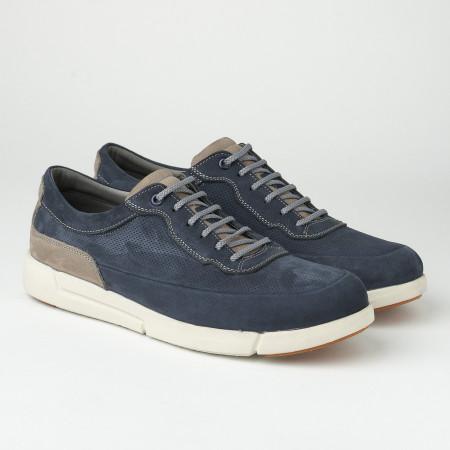 Slika Kožne muške patike/cipele SF401-3 teget