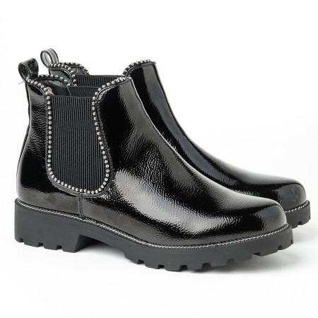 Slika Lakovane duboke cipele LH051200 crne