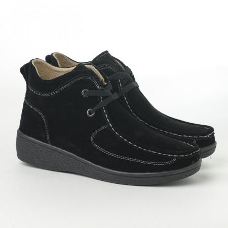 Slika Poluduboke ženske kožne cipele C868 crne