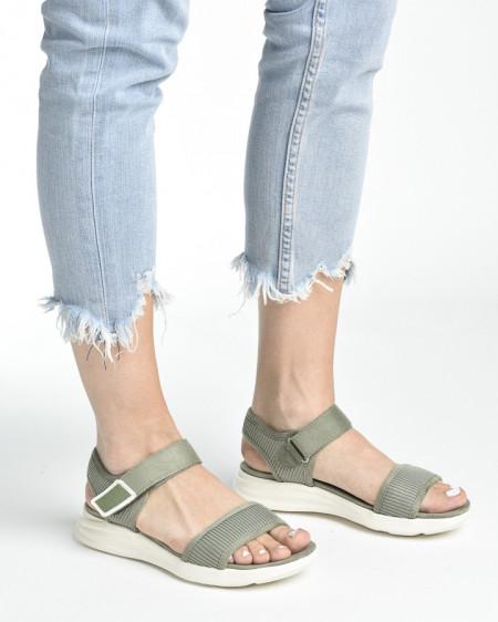Slika Udobne sportske sandale S482 maslinasto zelene