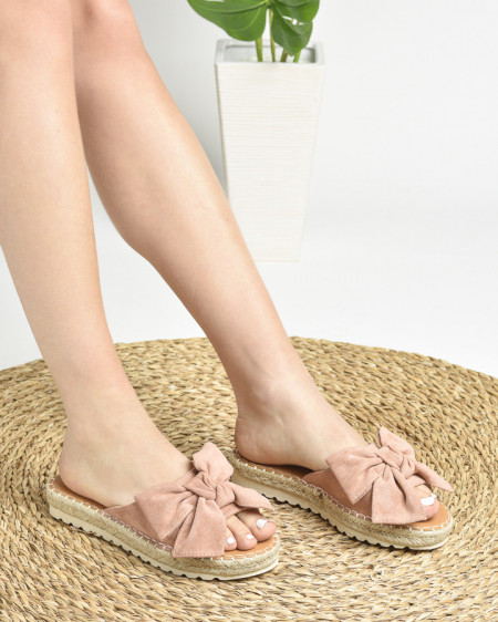 Slika Ženske papuče na debelom đonu LP212026 bež