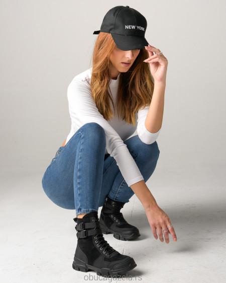 Slika Ženske poluduboke čizme A153 crne