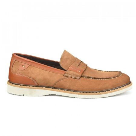 Slika Kožne muške cipele 7417 kamel