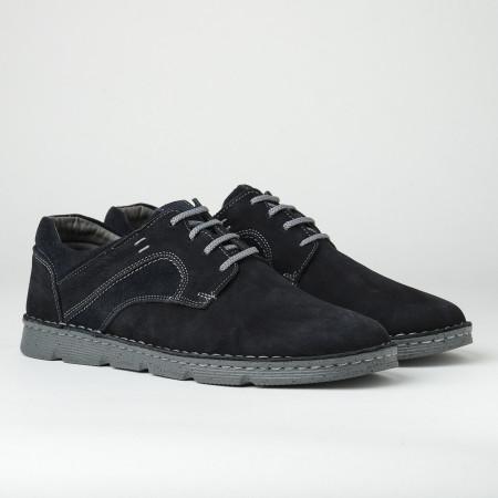Slika Kožne muške cipele na pertlanje 2820 teget