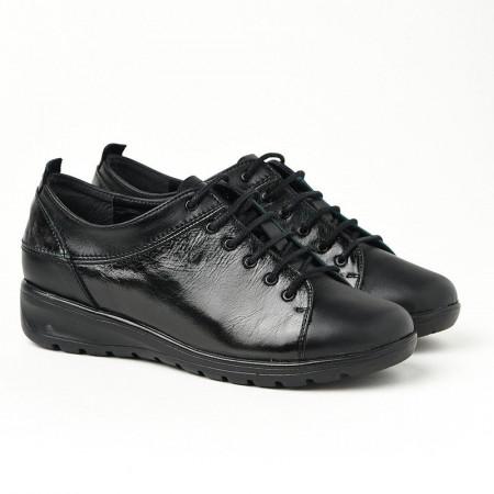 Slika Kožne ženske cipele 18-136 crne