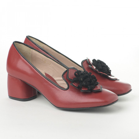 Slika Kožne ženske cipele N-130 bordo