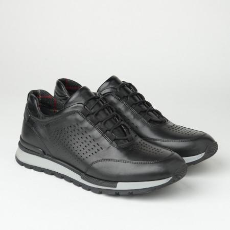 Slika Muške kožne patike/cipele F6807/512 crne