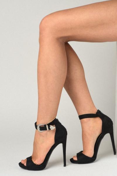 Slika Sandale na štiklu LS91606 crne
