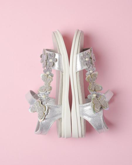 Slika Sandale za devojčice CS252117 srebrne (brojevi od 31 do 36)