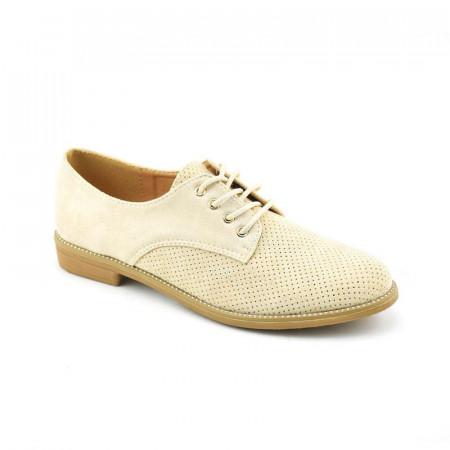 Slika Ženske cipele na pertlanje L021254 bež