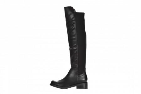 Slika Ženske duboke ravne čizme LX562011 crne