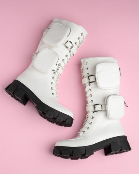 Slika Ženske poluduboke čizme LH050401 bele