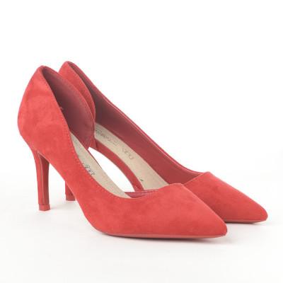 Cipele na štiklu L242056 crvene