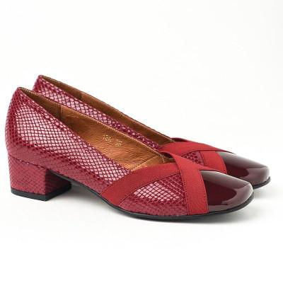 Cipele sa kožnom postavom M-128 bordo