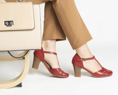 Cipele/sandale na štiklu S400 crvene