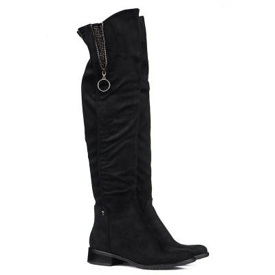 Čizme preko kolena LX051825 crne