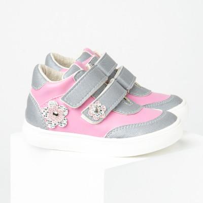 Dečije cipele sa anatomskim uloškom S032/2 sivo-roze