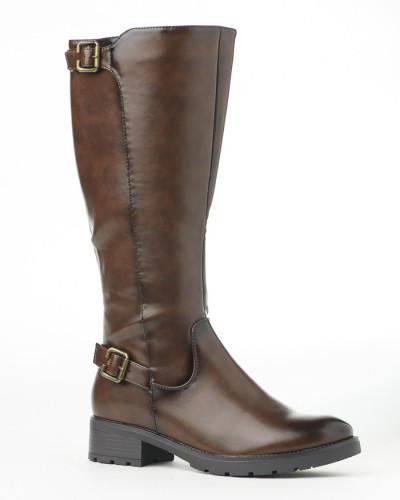 Duboke ženske čizme LX601923 braon