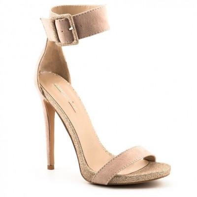 Elegantne sandale na štiklu LS81001 zlatne