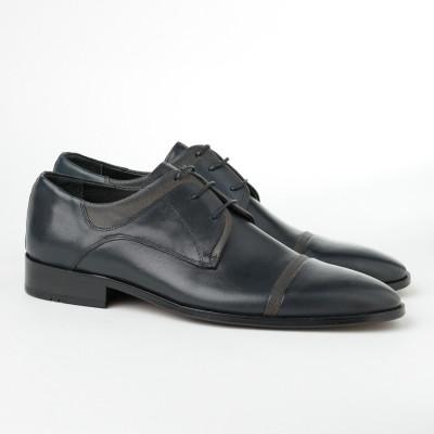 Kožne muške cipele 1511 teget