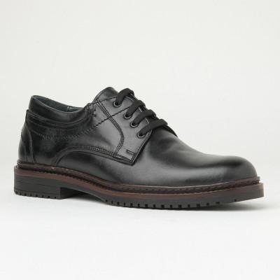 Kožne muške cipele Gazela 886-01 crne