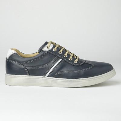 Kožne muške patike/cipele 20410-2 teget