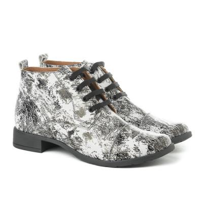 Kožne ženske cipele 2-901 belo/sive
