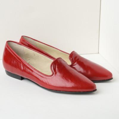 Kožne ženske ravne cipele B18/4 crvene