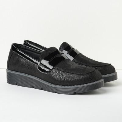 Ravne cipele/mokasine C2150 crne