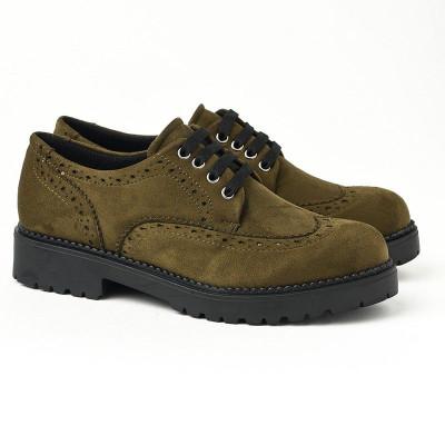 Ravne jesenje cipele 623-843 maslinaste