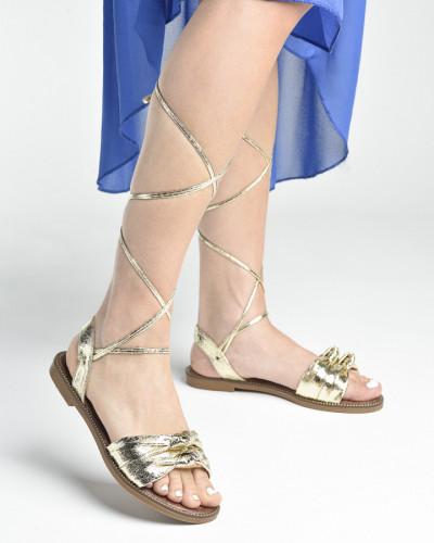 Ravne sandale LS272006 zlatne