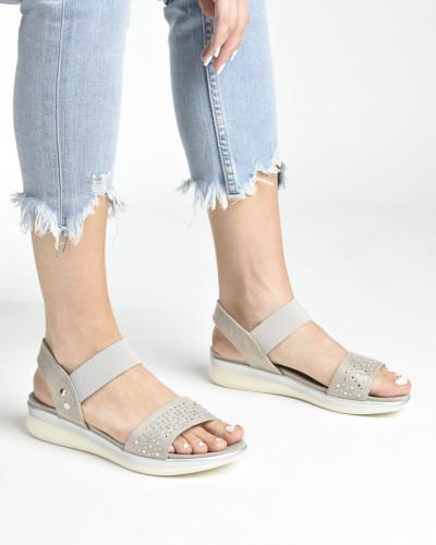 Ravne sandale S481 bež