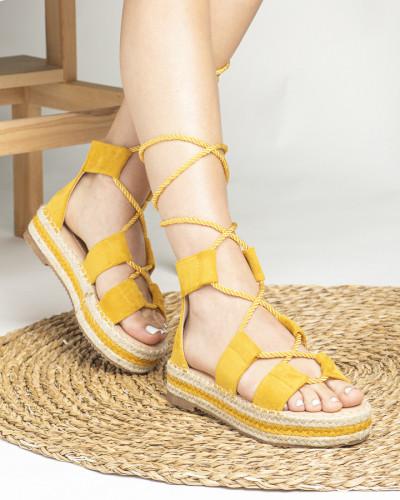 Sandale na debelom djonu LS020123 žute