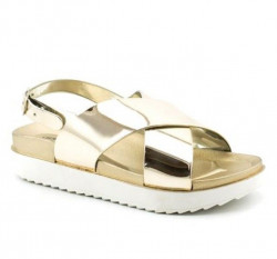 Sandale na debelom đonu LS91950 zlatne