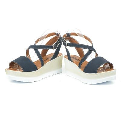 Sandale na platformu 5485/1021 teget
