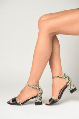 Sandale na štiklu 110-9 crne