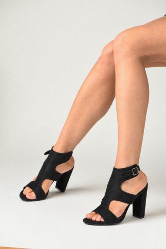 Sandale na štiklu LS241903 crne