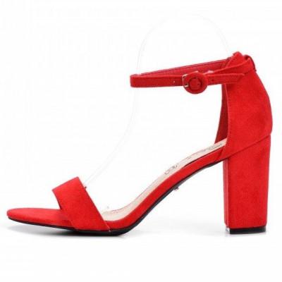 Sandale na štiklu LS241918 crvene