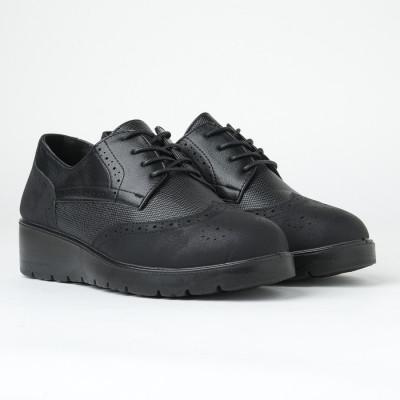 Ženske cipele na pertlanje L85554-2 crne