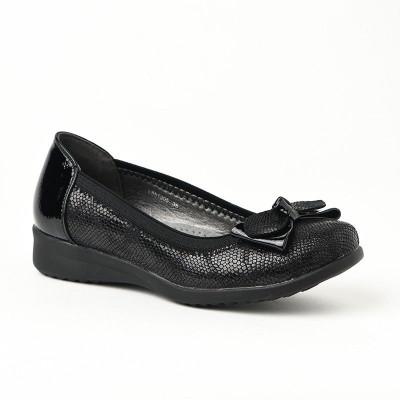 Ženske lakovane cipele / baletanke L551905 crne