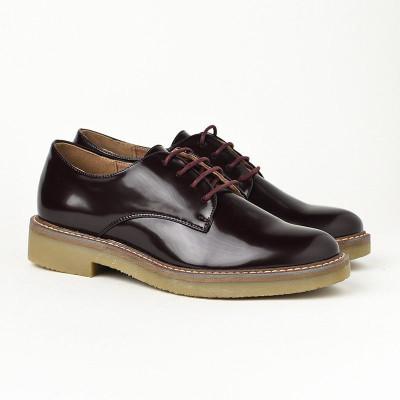 Ženske lakovane cipele C1901 bordo glatke