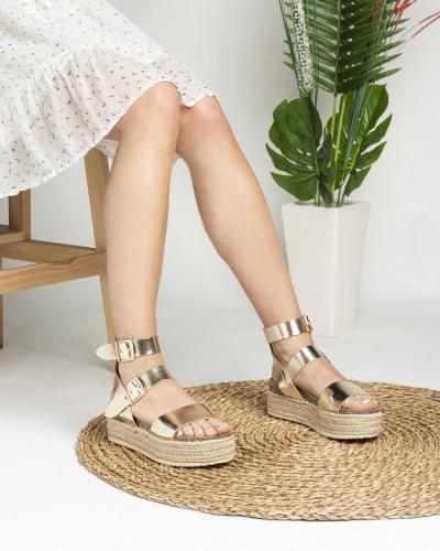 Ženske sandale na debelom djonu LS792004 zlatne