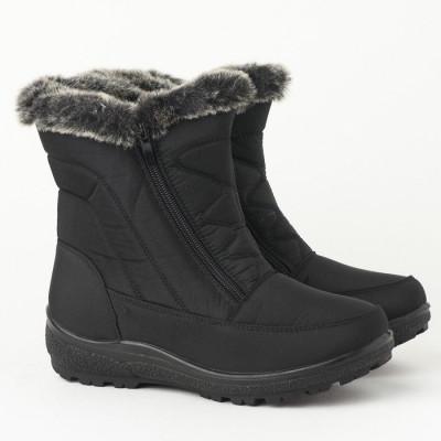 Zimske poluduboke čizme LH95400 crne
