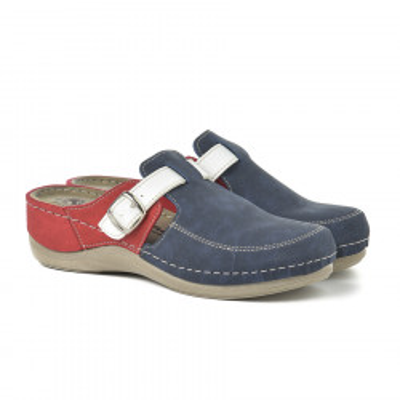 Anatomske papuče 101/2 teget/crveno/bele