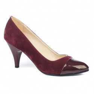 Cipele na malu štiklu 3030 bordo