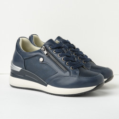 Cipele/patike na debelom đonu P1904 teget