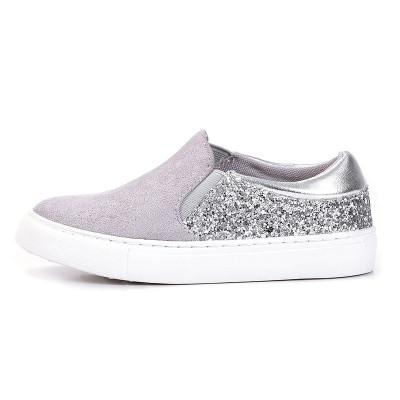 Espadrile / patike za devojčice B251901 sivo/srebrne
