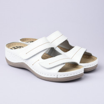 Kožne anatomske papuče 434 bele